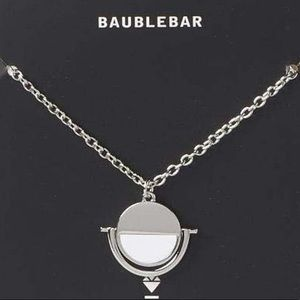 BaubleBar Snowfall Reversible Silver Necklace